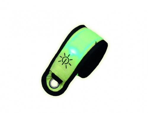 LED Schnappband FLASH neon gelb 35 x 4 cm