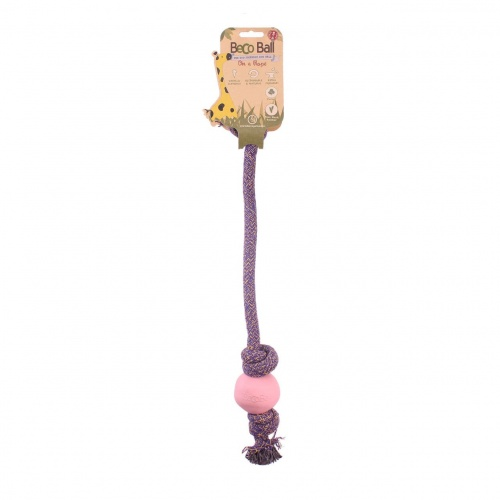 Beco 30cm Ball with rope SMALL pink