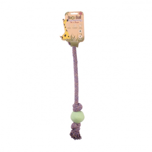 Beco 30cm Ball with rope SMALL green