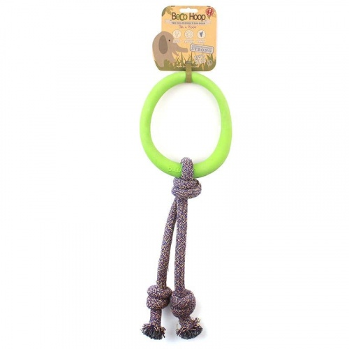 Beco Hoop on a Rope SMALL green