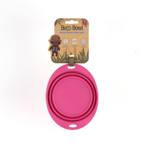 Beco 15cm Travel Bowl S pink