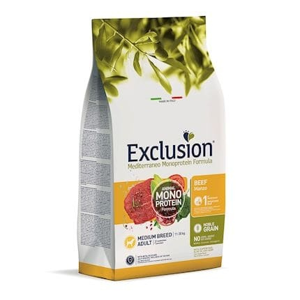 Exclusion Dog Adult Medium Beef 12kg