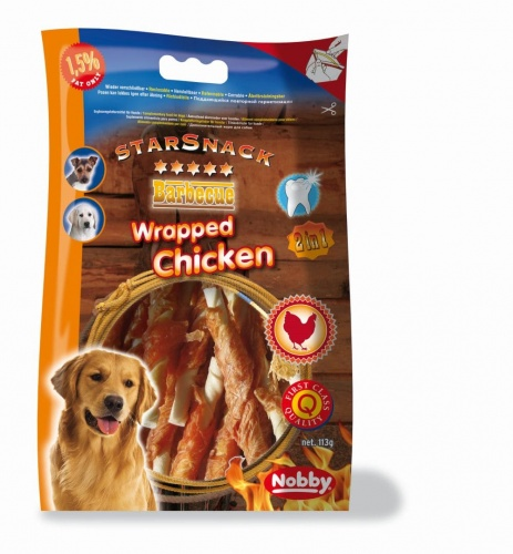 StarSnack Barbecue Wrapped Chicken  12,5 cm, 113 g